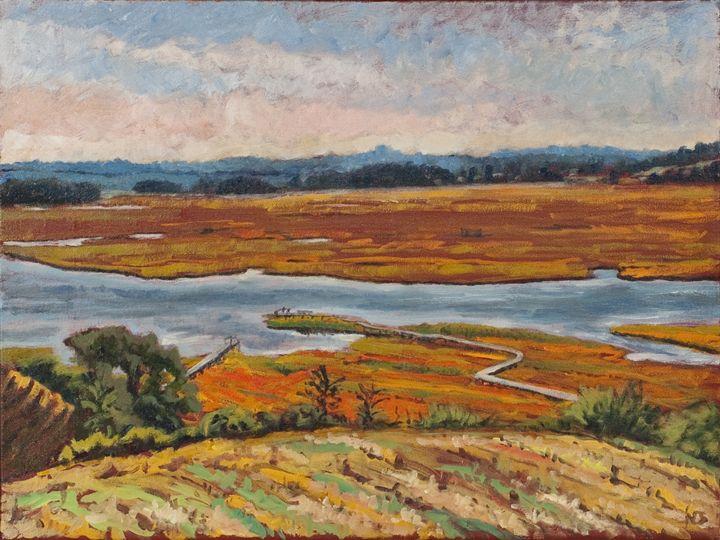 Essex Salt Marsh - Nat Simkins New England Painter