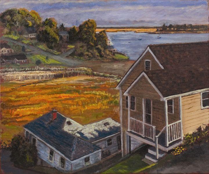Plum Sound from Littleneck - Nat Simkins New England Painter