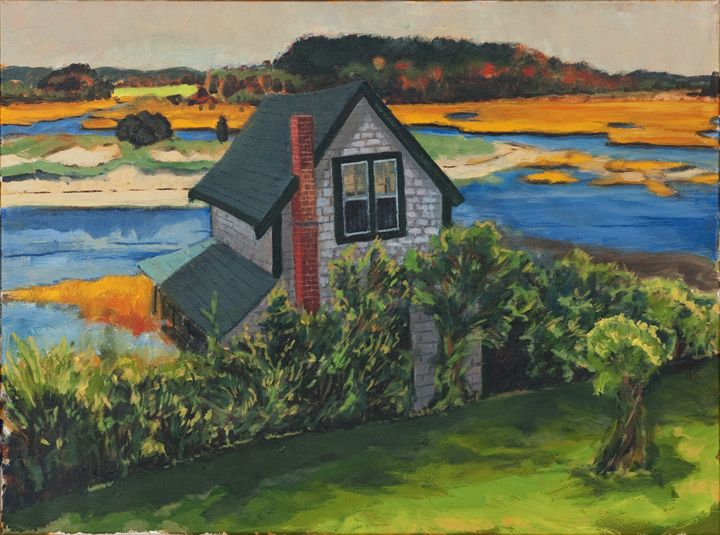 Cottage by the Sea - Nat Simkins New England Painter