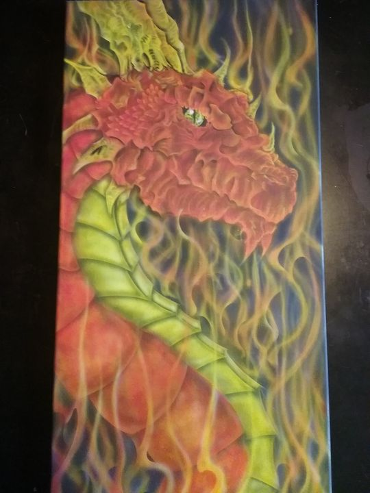 Airbrushed Dragon - mike wagoner