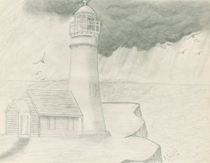 Lighthouse Squall Storm