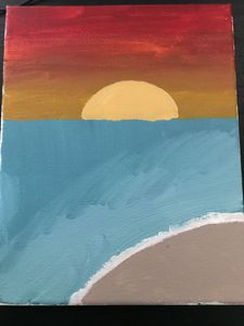 Sunet with ocean