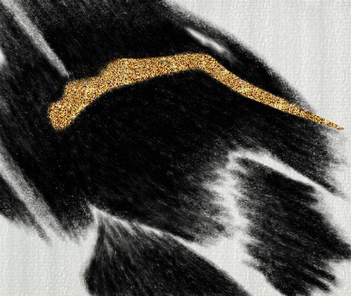 Abstract Black Glitter Contemporary - tiazArtDesigns