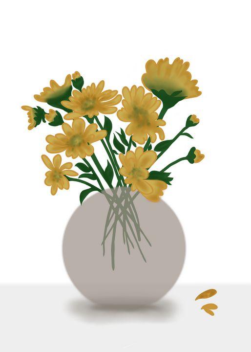 Sun Flower Minimalist - tiazArtDesigns