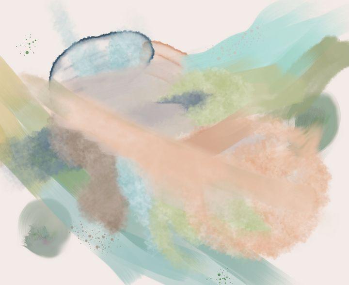Rain Pastel Abstract - tiazArtDesigns