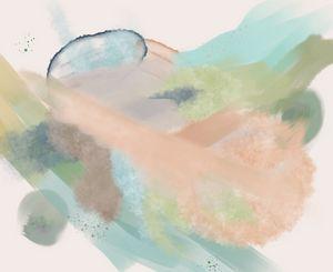 Rain Pastel Abstract