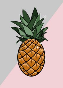 Pineapple Minimalist Abstract