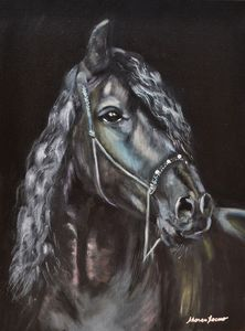 Black Horse - Kharen love arts