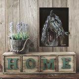 Black Horse Portrait Break Free