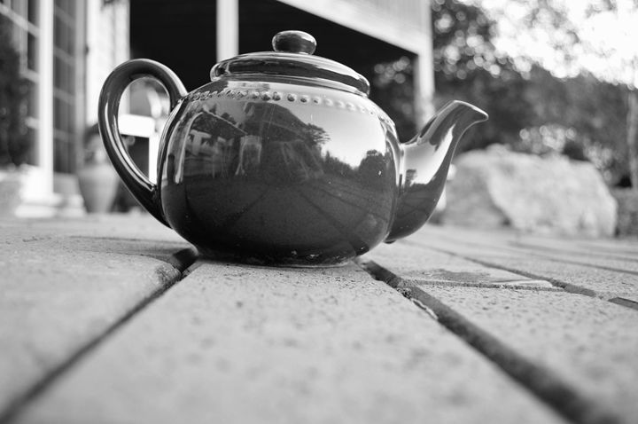 Black and White Teapot - Samantha Tamburello