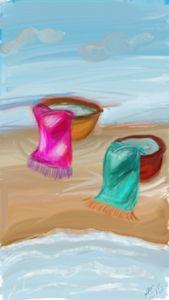 saves on the beach