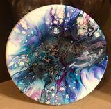 Acrylic/Resin on Wood Base