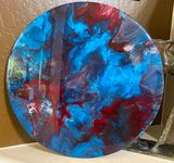 Resin on wood base 19 inch