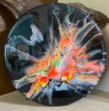Acrylic on wood base 15 inch round