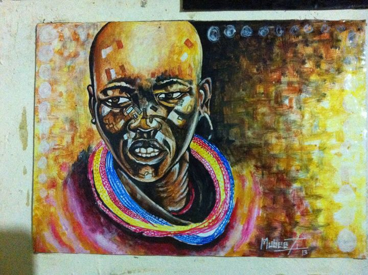 Masai Man - Blessed Art Paintings