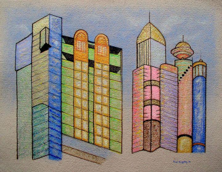 Blue Sky City - Art Jacky Gallery