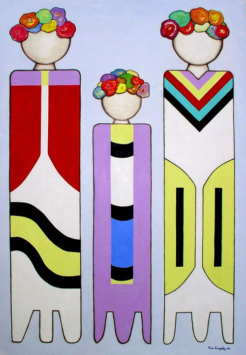 Three Flower Sisters - Art Jacky Gallery