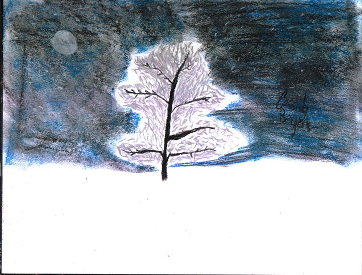 Tree in the night -  Icsparkles23