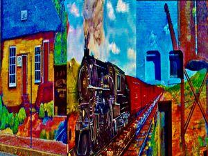 Train Mural - Art by I AM Studio