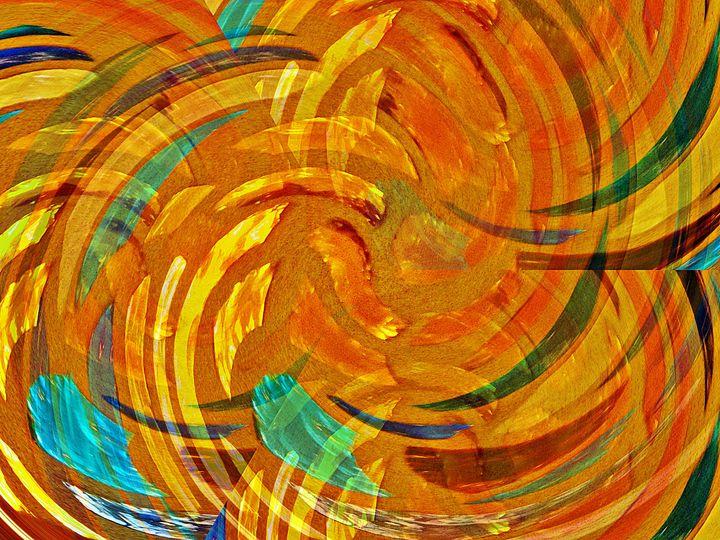 Stained Glass Window Orange - Art I AM Studio