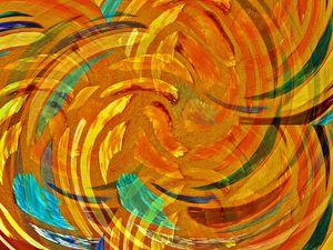 Stained Glass Window Orange