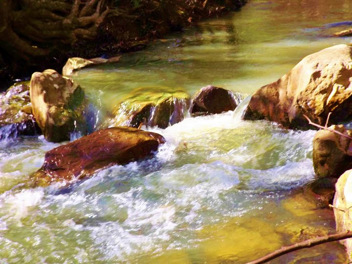 Boulders on the Cahaba - Art by I AM Studio