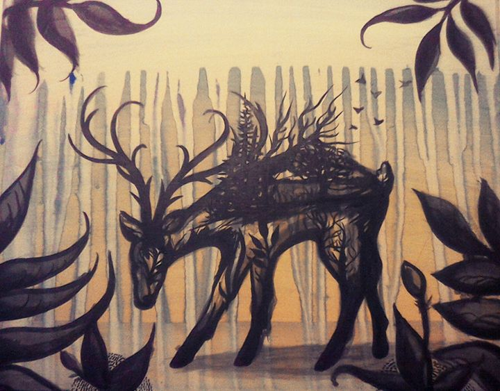 Water color deer - Lillian