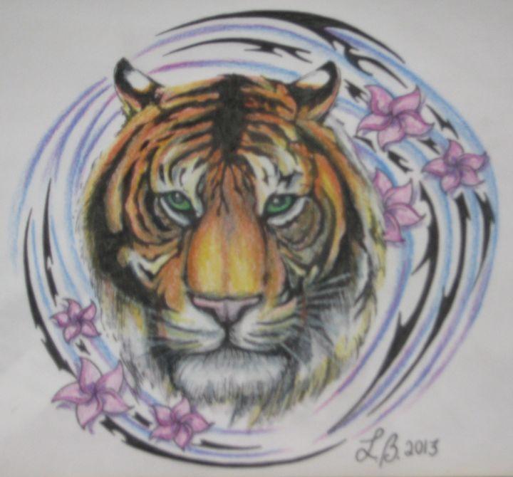 water tribal tiger - Lillian