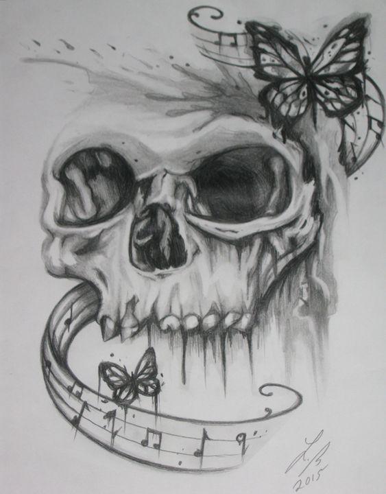 skull butterflies - Lillian