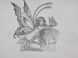 The fairy butterfly