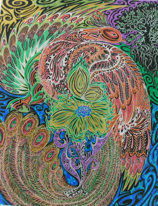 very colorful peacock - Lillian
