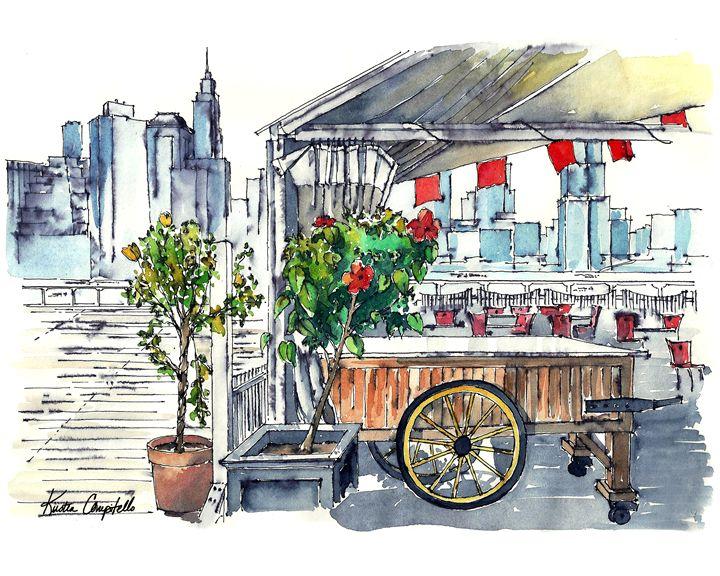 Flowers at Brooklyn Bridge Park - Kirsten Compitello