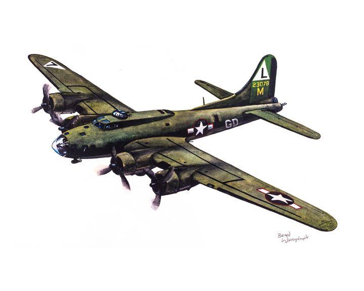 B-17F Flying Fortress - BW Studios - The Art of Brian Whisenhunt