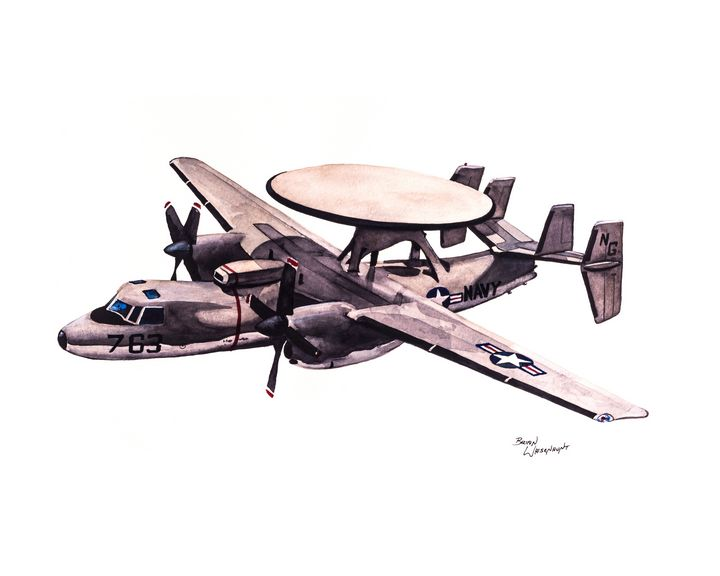 Grumman E2-C Hawkeye - BW Studios - The Art of Brian Whisenhunt