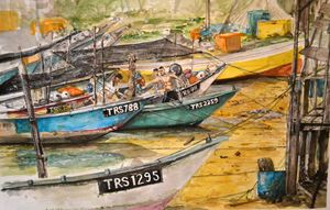 Fishing Boats at Marang