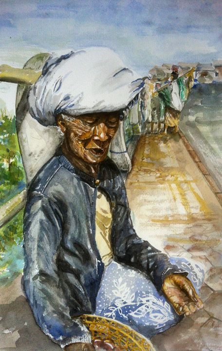 Passion Fruit Seller at Kintamani - Apit Anip Arts