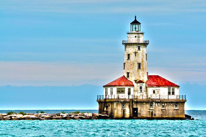 Chicago light house close-up - Spade Photo