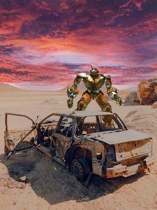 Robot Car wreck