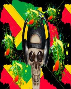 Crazy Jamaican Skull DJ
