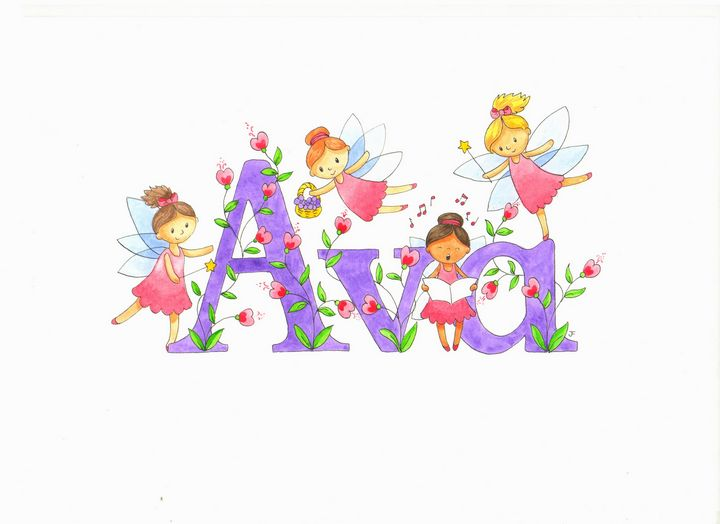 Ava fairies - illustrated names by Jayne Farrer