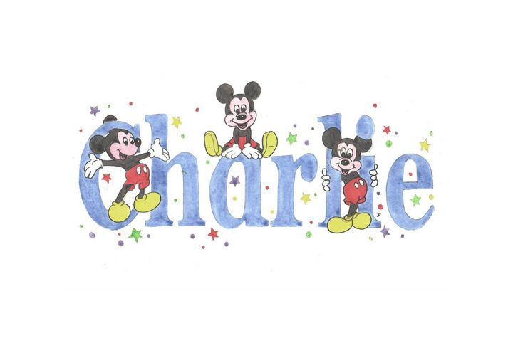 Charlie mickey mouse - illustrated names by Jayne Farrer