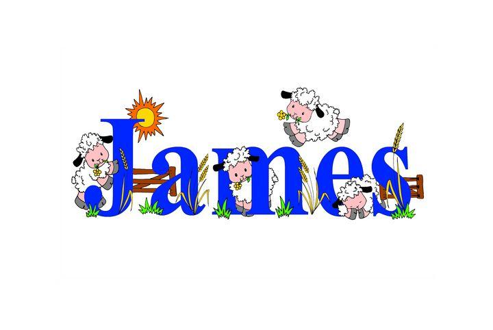 James sheep - illustrated names by Jayne Farrer