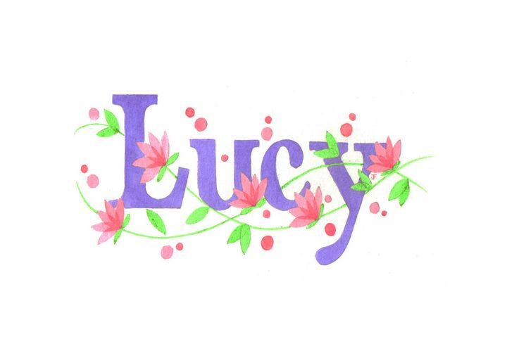 Lucy flowers - illustrated names by Jayne Farrer