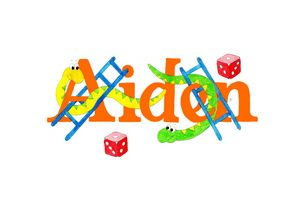 Aiden with snakes and ladders