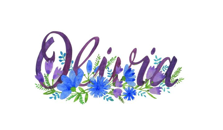 Olivia Flowers - illustrated names by Jayne Farrer