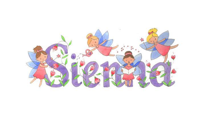 Sienna fairies - illustrated names by Jayne Farrer