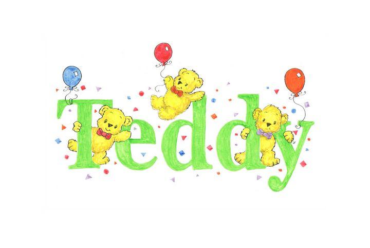 Teddy teddies - illustrated names by Jayne Farrer