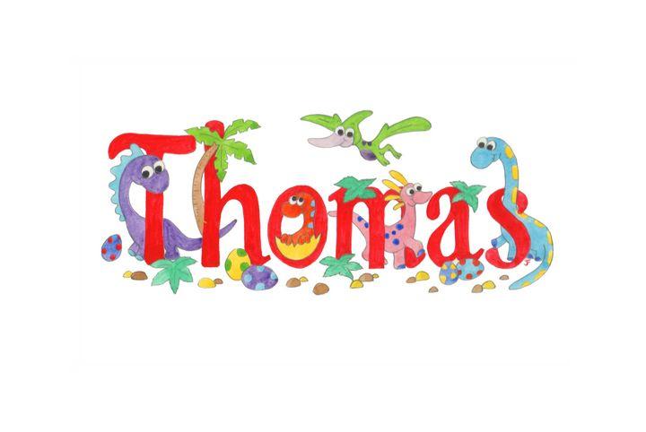Thomas Dinosaurs - illustrated names by Jayne Farrer