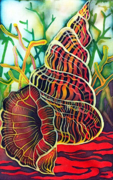 Orange Seashell - Yan Arts