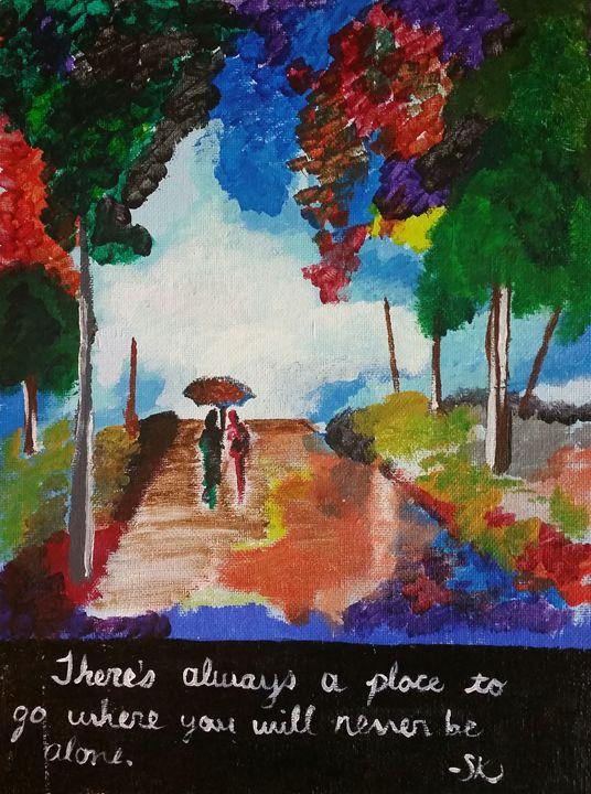 Never Alone - Miss Lemonade's Canvas